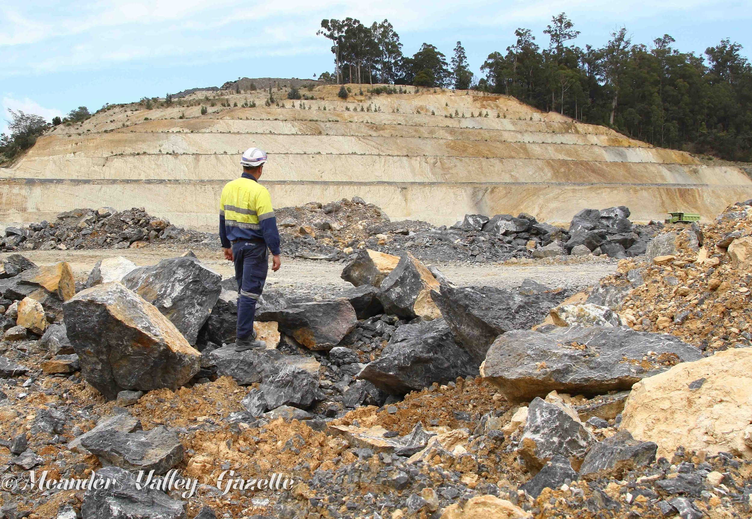 Leon Porter Operations Manager Sibelco Mole Creek Surveyingearly stages of rehabilitation area at Mole Creek Limestone Mine
