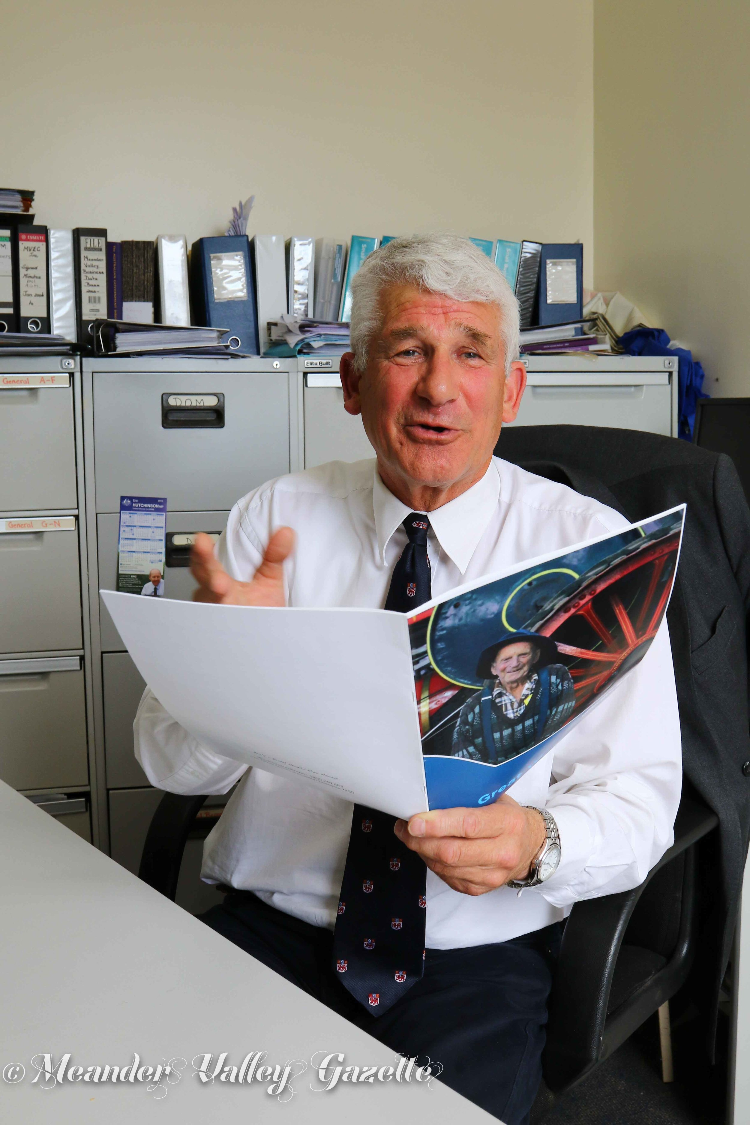 Richard Millen Chair of Great Western Tiers Tourism Association