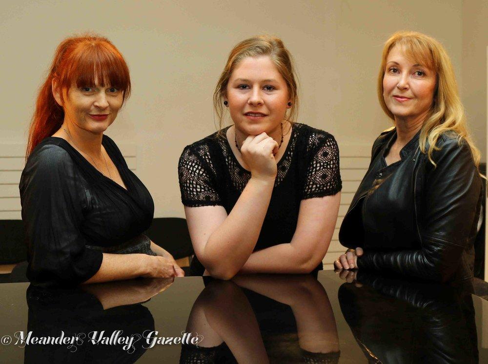 L-R  The 3 Divas : Tamsyn Stock Stafford, Georgina Harvey and Carolyn Harris