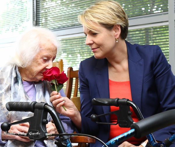 Betty turned 101 the day after the visit from Tanya Plibersek