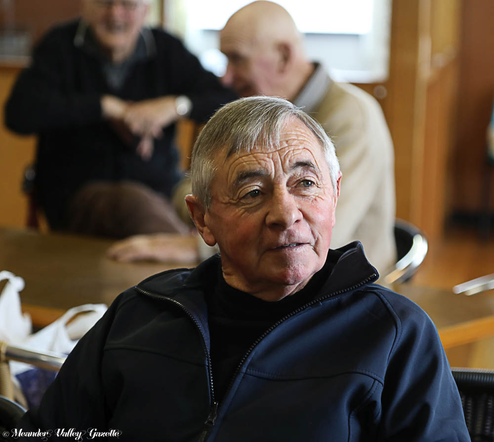 Max Baker (ex-jockey), 73, of Longford, joined the 'Golden Oldies' for a chat and a cuppa.
