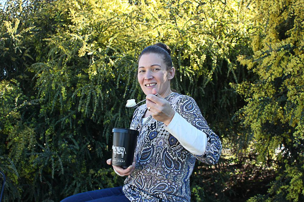 Carly Palmer manages sales and marketing at Van Diemens Land Creamery.