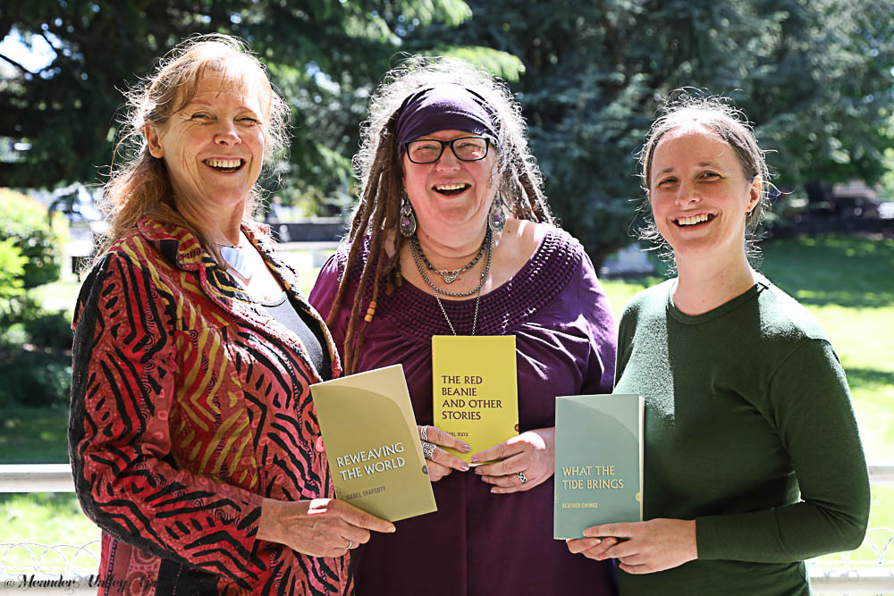 L-R Isabel Shapcott, Pearl Maya and Heather Ewings all had their work published as part of Tasmania's 'People's Library' project