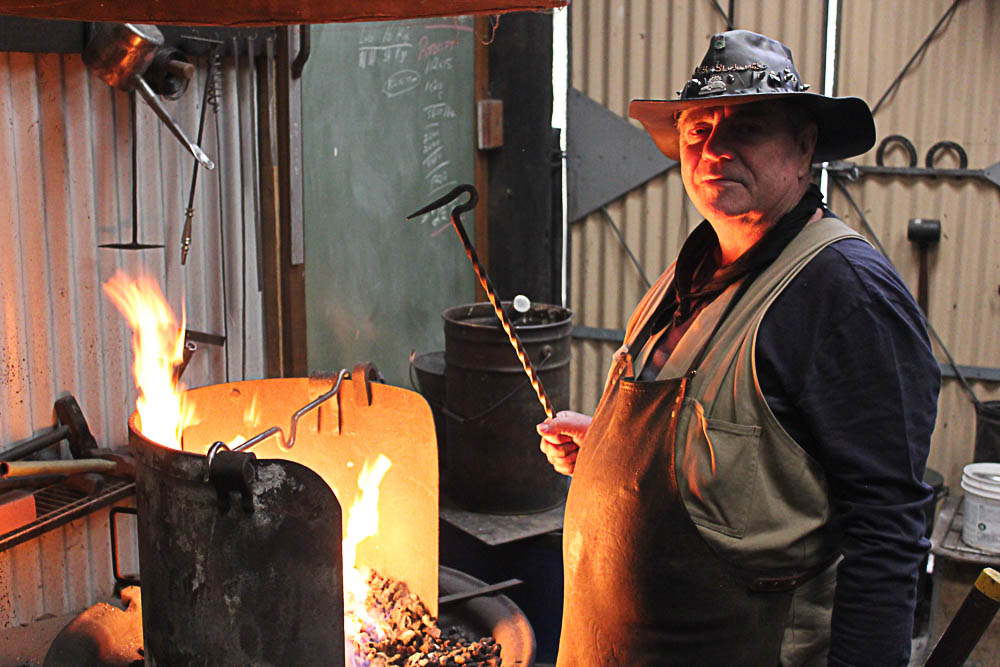 Meander Vallley man Karl has a long history in working with metal.