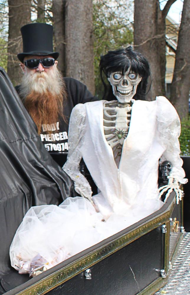 Piercer Paul and skeleton bride