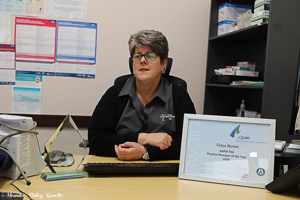 Tanya Barrett, Tasmanian Practice Manager of the year for 2018.
