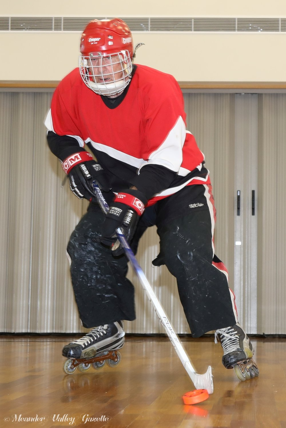 Skater Peter Ashton promoting his lifelong Sport of 'Inline Hockey'.