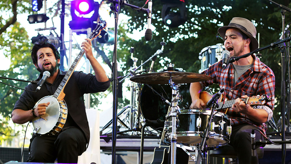 Halfway to Forth band members Dan and Kyle Lizotte will perform their signature blues and roots at the Little Laneway Fringe Festival.   Photo | Sharon Webb