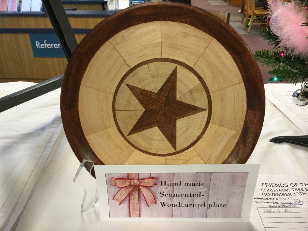 Wood-turned Plate