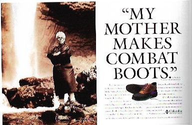 1994 - Rosey Award Winner: Consumer MagazineColumbia.My Mother Makes Combat Boots.
