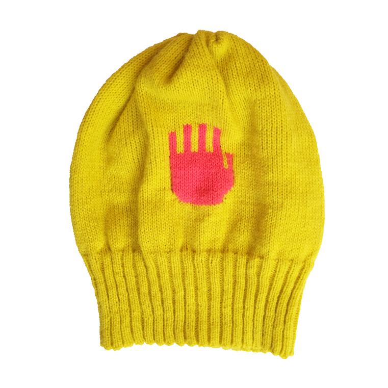 Invisible Handy Cap, locally spun yarn, 2015