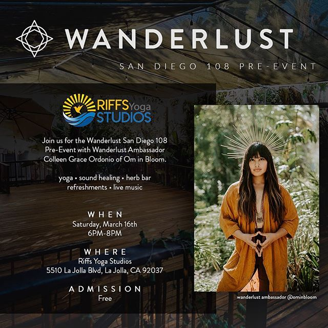 🔥WANDERLUST SAN DIEGO PRE-EVENT & GIVEAWAY 🔥Hey friends - I've teamed up with @wanderlustfest to bring you TWO amazing offerings. ⠀⠀⠀⠀⠀⠀⠀⠀⠀ 1️⃣ SATURDAY MARCH 16 • I'll be hosting the FREE Wanderlust San Diego Pre-Event at @riffsstudios! Indulge in yoga, sound healing, an herb bar, raffle, and MORE! Mark your calendars. 🦋  2️⃣ SATURDAY, MARCH 23rd • I've also partnered with @wanderlustfest to give a lucky winner TWO tickets to Wanderlust San Diego 108 (one for you and a friend!) on Saturday, March 23rd! ⠀⠀⠀⠀⠀⠀⠀⠀⠀ Enjoy a mindful, conscious triathlon including a 5K, YOGA, and MEDITATION then wind down its delicious snacks, browse fun wellness booths, dance + more! ⠀⠀⠀⠀⠀⠀⠀⠀⠀ 🔥 How to Enter 🔥 1. Like this post 2. TAG A FRIEND you'd take with you! 3. For an extra entry, post about this giveaway in your story and tag me @ominbloom ✨ . . . . . . #Ominbloom #ominbloomwellness #ominbloomyoga #ominbloomreiki #sandiegoyogateacher #sandiegoyoga #sandiegoyogi #sandiegoreiki #sandiegohealer #reikihealing #reikimaster #herbalist #sandiegoherbs #sandiegoherbalist #herbalism #herbalista #folkherbalism #plantmedicine #alternativemedicine #healthblogger #sandiegoblogger #consciouscommunity #wanderlustfestival #consciousculture #riffsstudios #brownwomen #womenowned