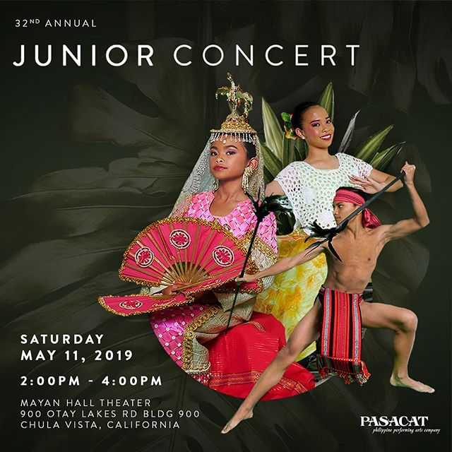 Hey friends 🔥 The 32nd Annual PASACAT Junior Concert is HERE. 🇵🇭✨ ⠀⠀⠀⠀⠀⠀⠀⠀⠀ WHEN: Saturday, May 11, 2019 WHERE: Mayan Hall Theatre 900 Otay Lakes Road, Bldg 900, Chula Vista, CA ⠀⠀⠀⠀⠀⠀⠀⠀⠀ If you know me at all, you know I've talking about these kids for months now. It is an honor to work with them, practice after practice, and to witness their growth as dancers (and humans). ⠀⠀⠀⠀⠀⠀⠀⠀⠀ We are so proud of them. So, ridiculously proud. Come support our kids as we've been working diligently with our Junior Program (they start at the age of 4!) to showcase the Philippine culture through dance and song. ⠀⠀⠀⠀⠀⠀⠀⠀⠀ It's truly amazing how the @pasacatinc Junior Program has evolved from the first performance in 1984, and then growing since 1988 when Choreographer/Dance Director, Joji Ramirez Castro took the helm. ⠀⠀⠀⠀⠀⠀⠀⠀⠀ The passion runs strong with these very young dancers and the future holds bright for PASACAT as we approach our 50th Anniversary in 2020. ⠀⠀⠀⠀⠀⠀⠀⠀⠀ BUY TICKETS AT THE LINK IN BIO.