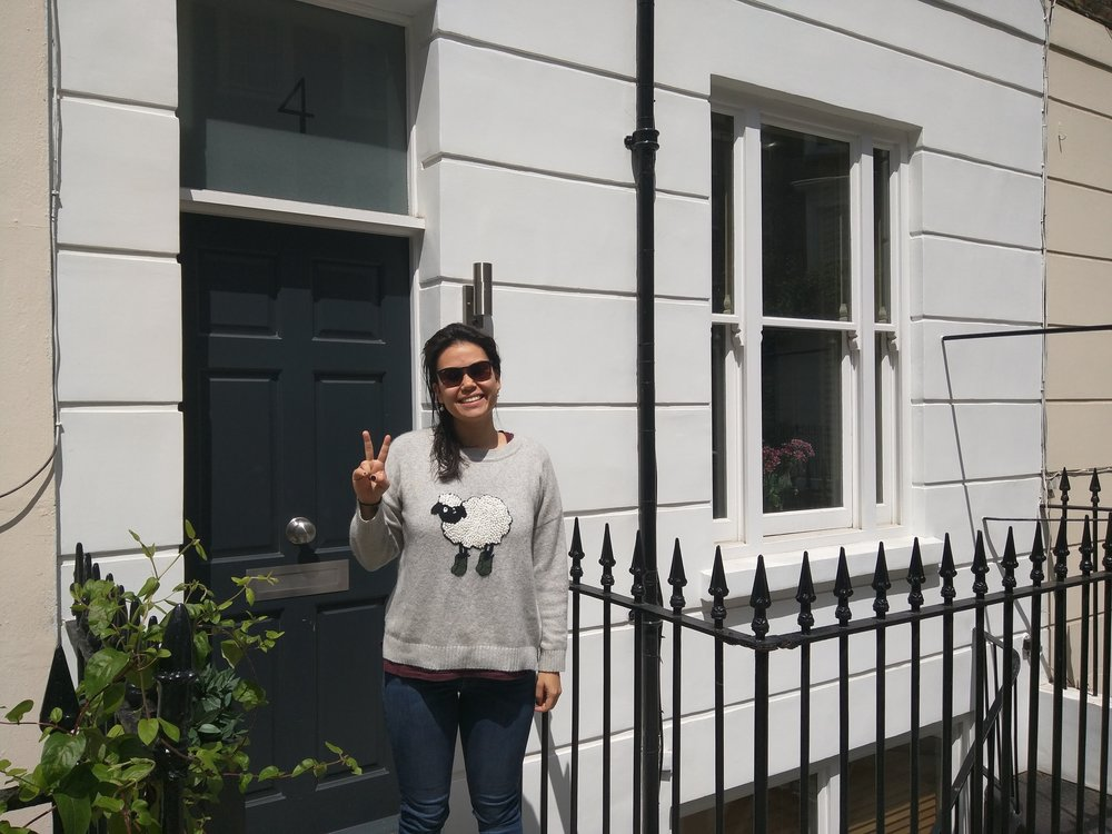 Our wee flat in Pimlico. We would both walk in to work, Gill going past Buckingham Palace to Simon Lee gallery in Mayfair. Their was a pigeon gang living in the back.