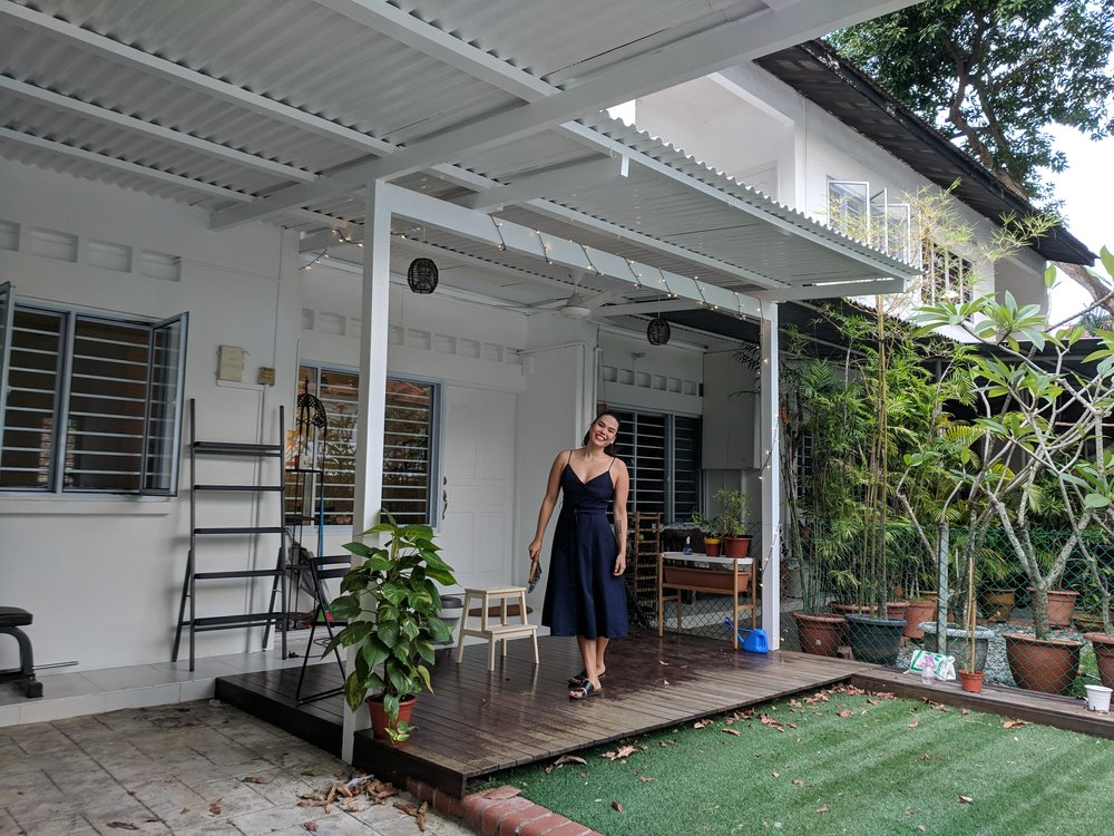 we recently moved to a small terraced house in chip bee gardens, Singapore. we have a little front and back garden. come visit!