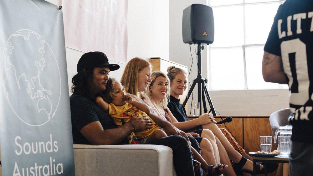 L-R: Nathan Bird, Sabrina Robertson, Katie Besgrove, Coco Eke Source: VMDO; Photographer: Sianne van Abkoude