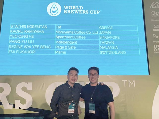 We are so proud of @caffeinedaily for making it to the finals for World Brewers Cup 2018. Do catch him LIVE in livestream tonight for the finals!  #wbrc2018 #brewerscup #WCE #gobs #specialtycoffee