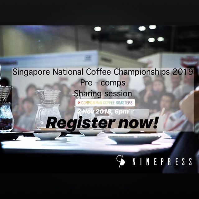 Hurry register now by dropping us a DM and we look forward to a night of sharing and Q&A with past competitors and judges! #singaporecoffee #GOBS #guildofbaristassg