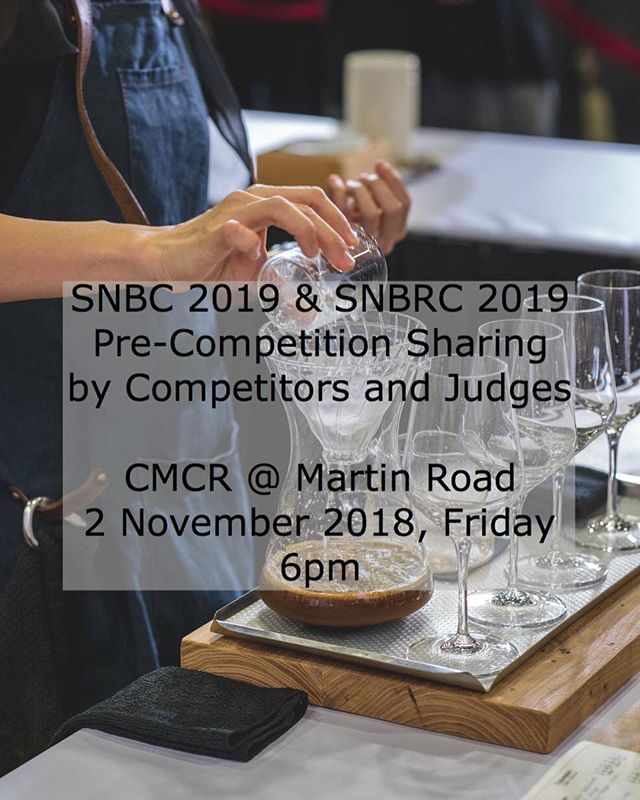 NEW EVENT ✨ We are hosting a casual sharing session with competitors and judges of the Singapore National Barista Championship & Singapore National Brewers Cup at @commonmancoffee ☺️ if you are planning on competing but haven't made up your mind or just need that extra push, definitely come by and ask questions! Registrations first-come-first-serve via email or DMs. Remember, registration closes 7 November 2018. We look forward to seeing you guys! #singaporecoffee #SNCC2019 #SNBC2019 #SNBRC2019 #GOBS #guildofbaristassingapore #guildofbaristassg