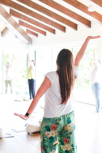 Vitality yoga session with Elizabeth Cairns at Cal Reiet, Mallorca captured by Cecelina Tornberg