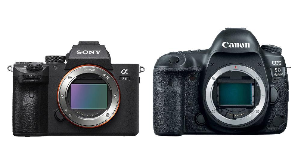 Sony A7-III en Canon 5D-IV
