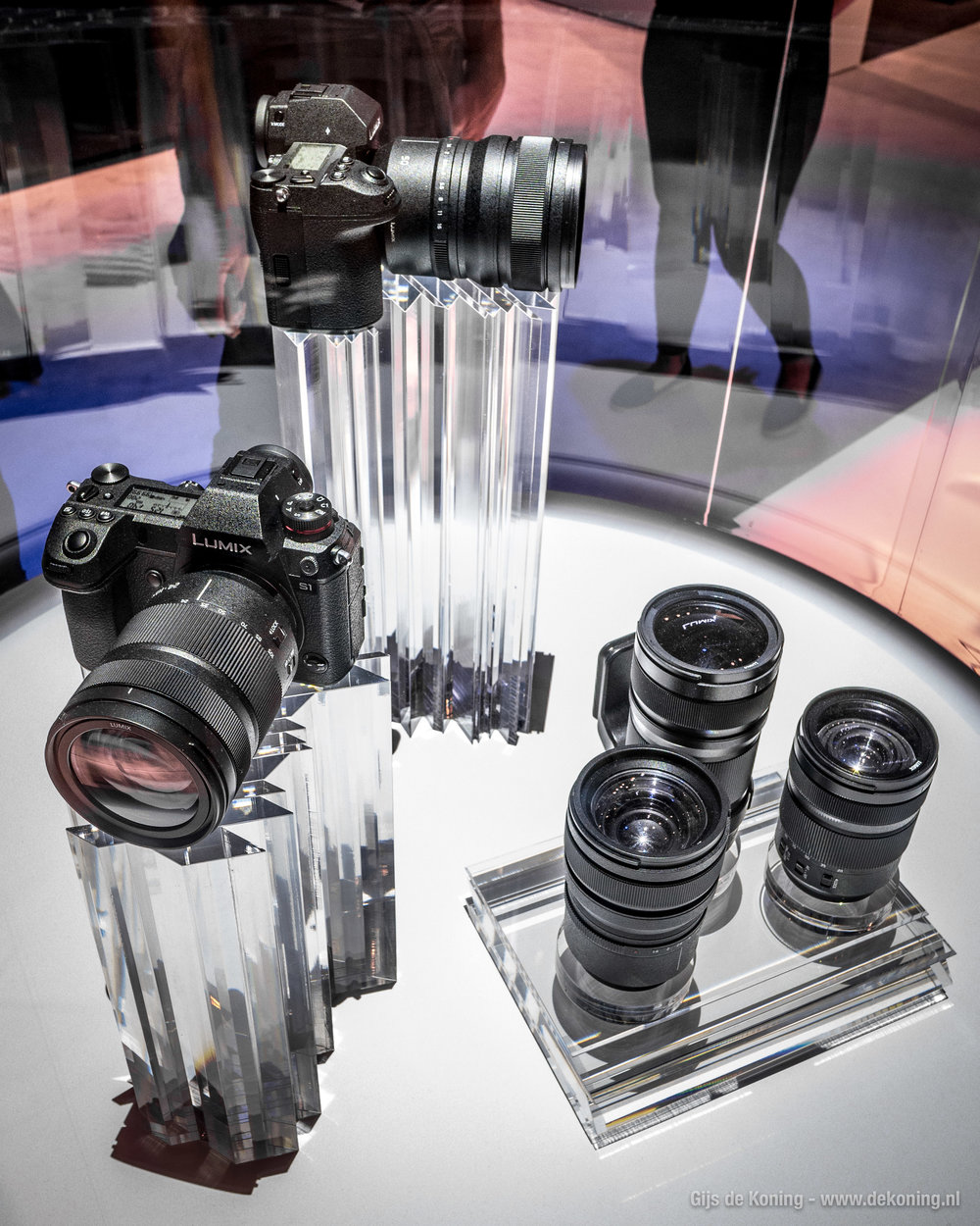 Panasonic Lumix S1 en S1R full-frame prototypes op de Photokina 2018.