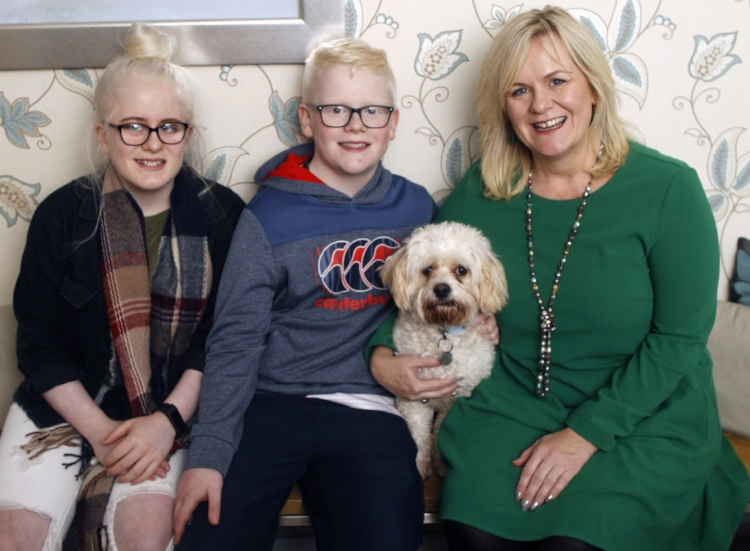 Connie, Peter, Spud and mum, Sara