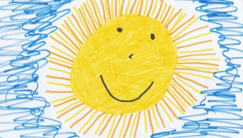 Child's drawing of sunshine