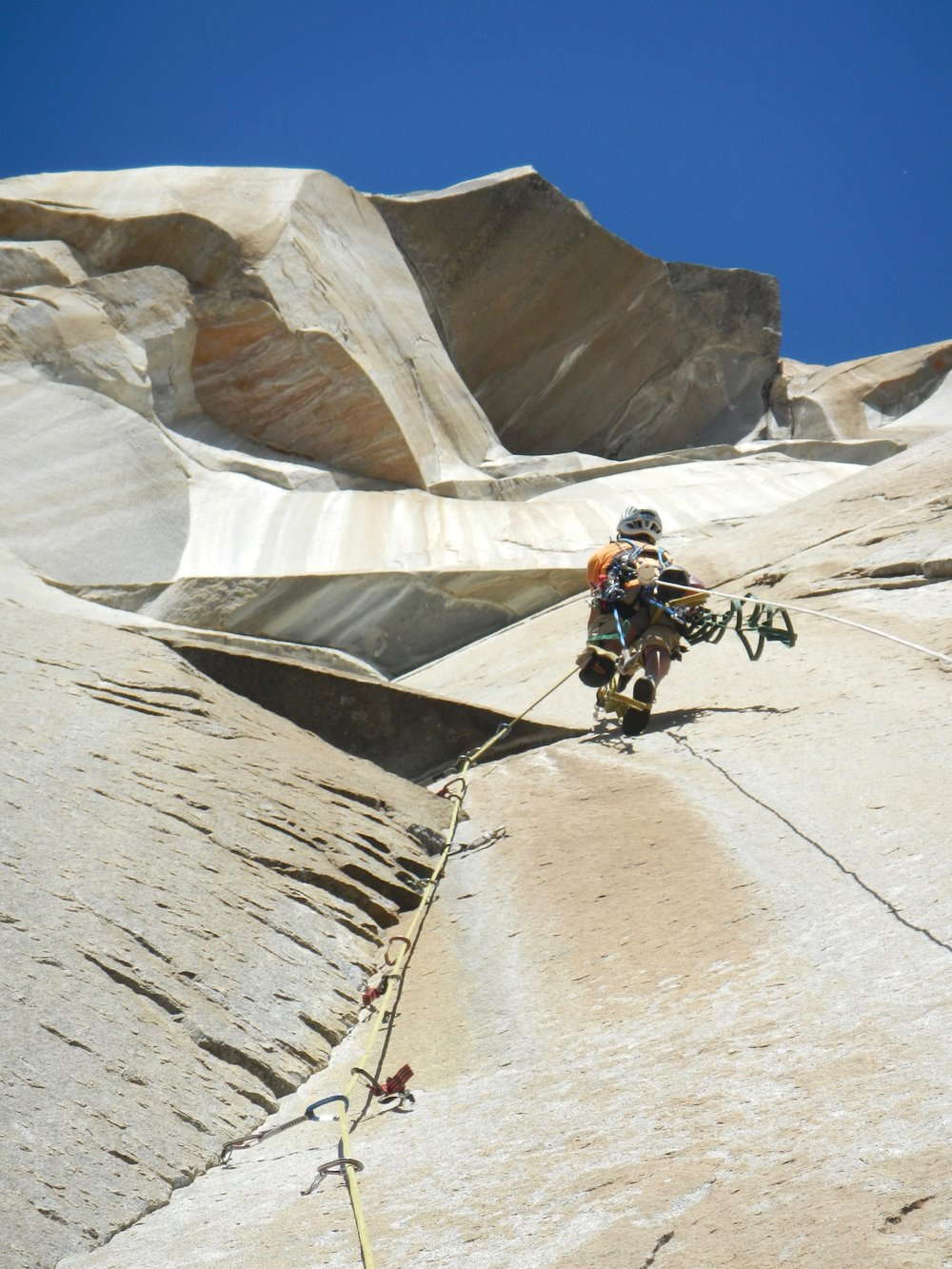 Mark Hudon on a recent ascent of Genesis on ElCap, Yosemite CA