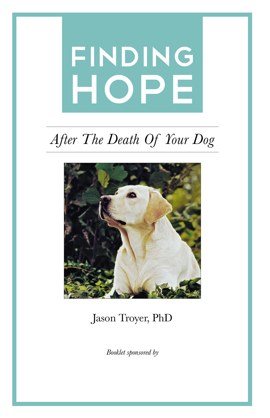 So I decided to write a booklet .... - ... for others who were grieving the death of their dog: Finding Hope after the Loss of a Dog. The feedback on my booklet was so positive that I went on to write 12 booklets on various types of loss (and you can download all my booklets for free). Finally, I was using my personal and professional expertise to actually help others.