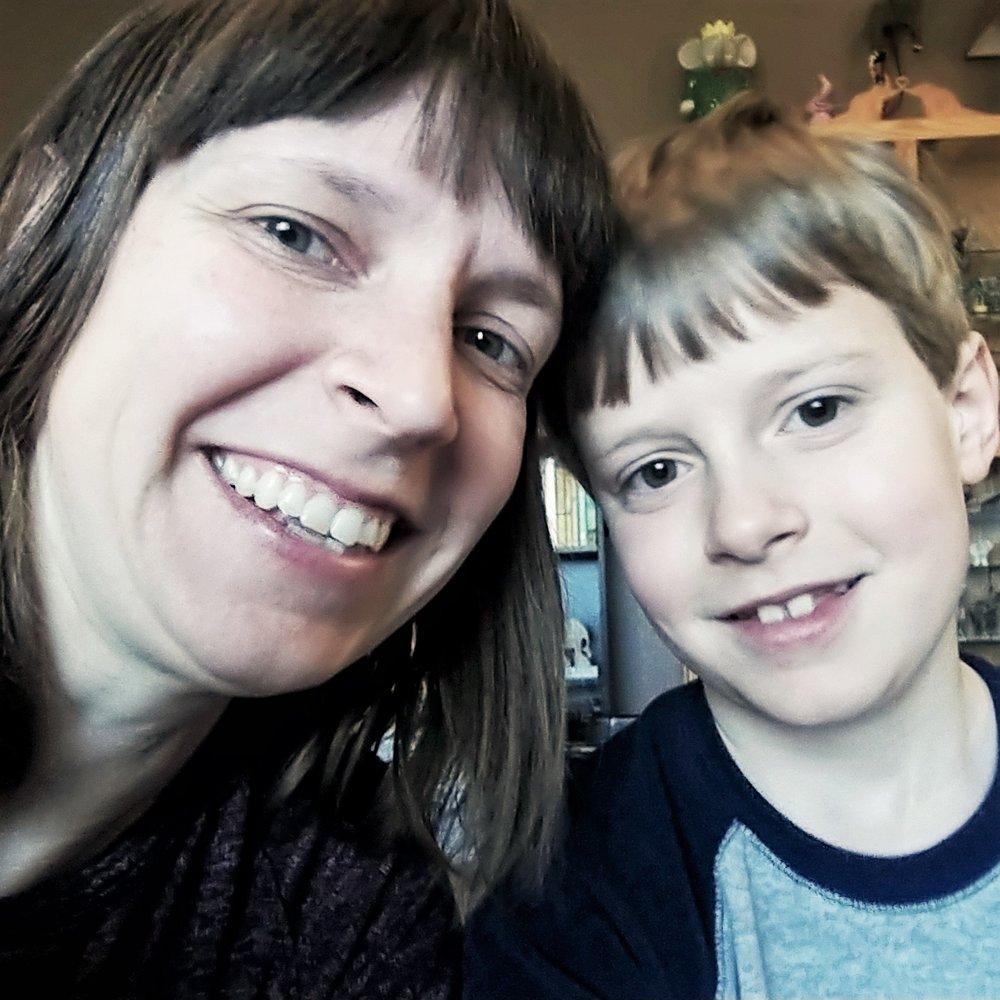 Micah, 8, and Kaytee