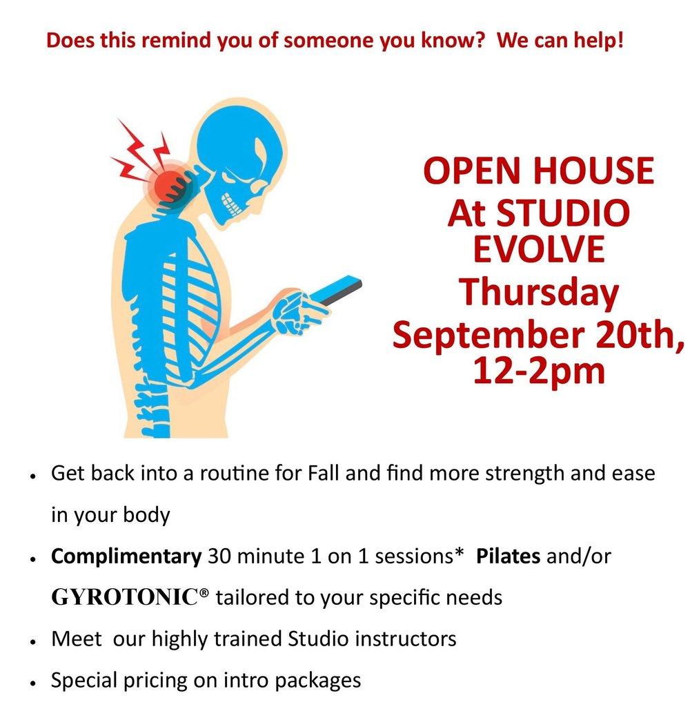 Fall-Open-house-studio-evolve-pilates-gyrotonic-seattle
