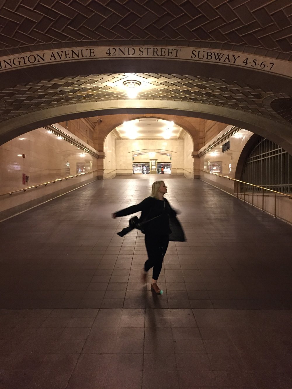 Grand Central Station, New York, May 2017. Twirling, just because.