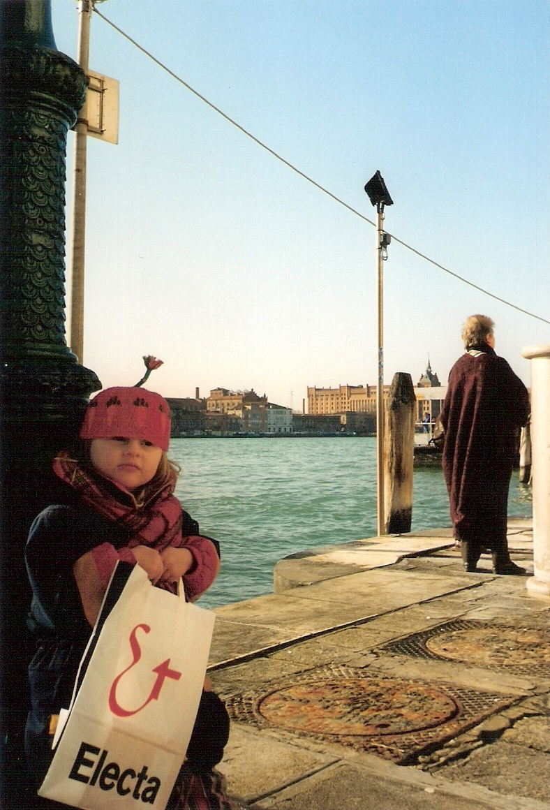 Suzey in Venice c. 1997(?) was probably just dreaming about eating a big bowl of gelato. Yeah, enjoy that while you can, kid.