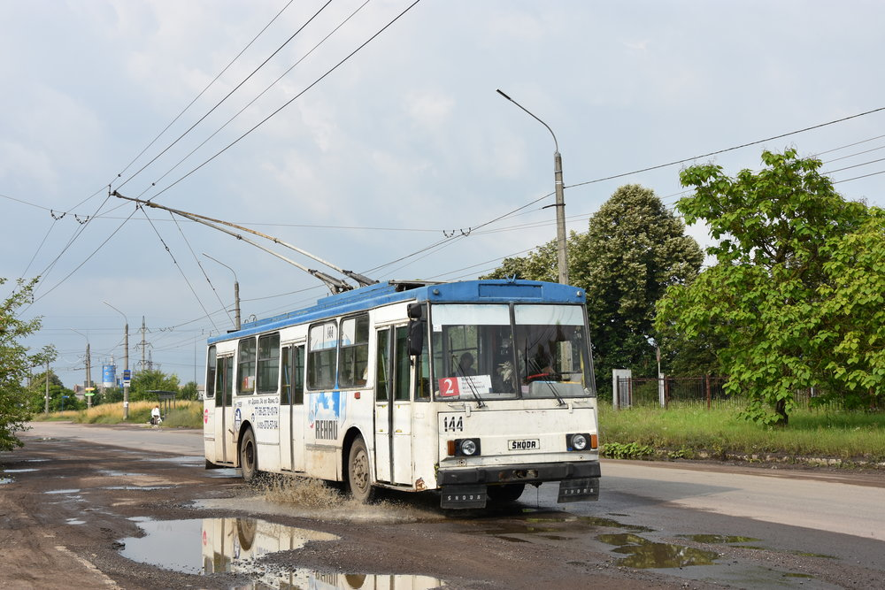 Trolleybuses Škoda 14 Tr are still the backbone of the fleet in many Ukrainian cities. In the photo we can see a trolleybus in the town of Ivano-Frankovsk in the west of Ukraine in June 2018. (photo by Libor Hinčica)
