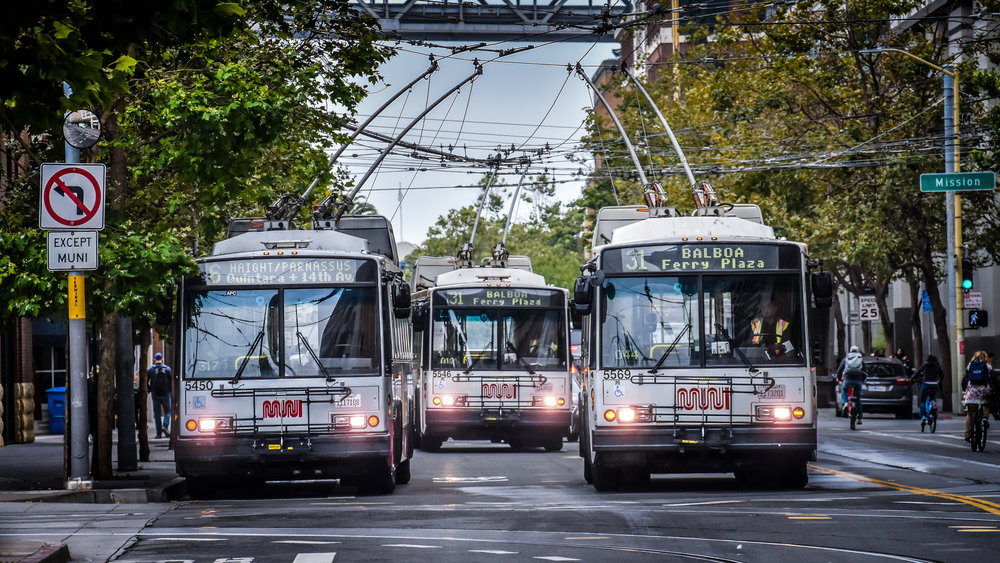 Trolleybuses Skoda 14 Tr were delivered even to San Francisco, in the version marked 14 TrSF. There, the vehicles are still in operation, as shown in this picture from August 2018. (photo by Honza Tran)