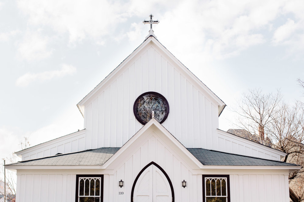 All Saint's Chapel - in the heart of downtown Raleigh, it has an old world feel and new world craftsmanship.
