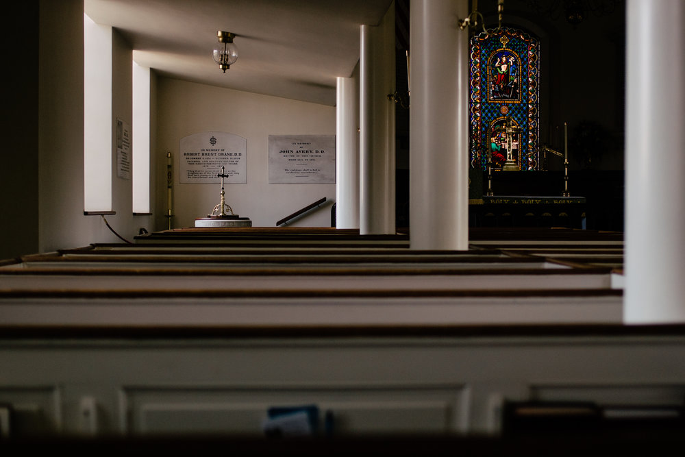 """On my first round of assignments for 2018, in Edenton. I was wandering the church's historic graveyard, and a friendly church member told me I should go in. It's always open, apparently, and almost always quiet. After a day of driving and questions and being """"on"""", it was a lovely moment of respite."""