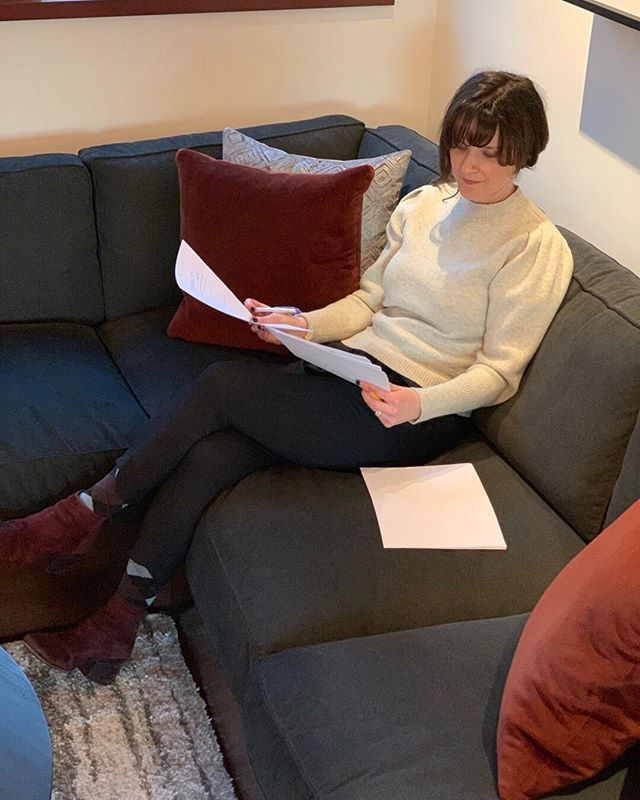 I try to color coordinate with my furniture occasionally. So it almost looks like my manuscript is editing itself.