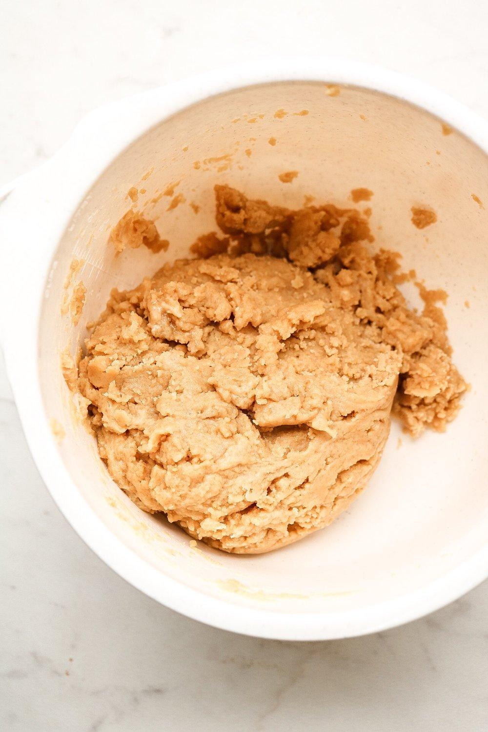 The cookie dough - just roll into balls and place on your baking tray!