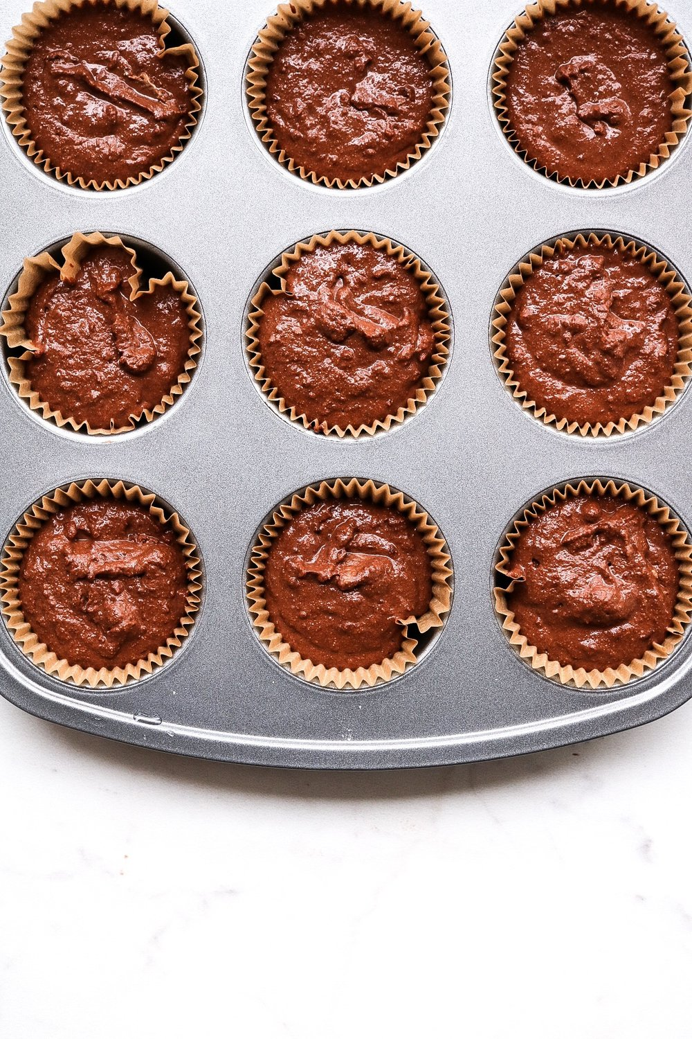 The cupcakes before popping them into the oven!