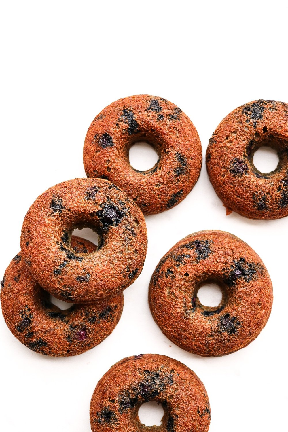 The donuts once they're done baking! Allow them to cool before adding any toppings.