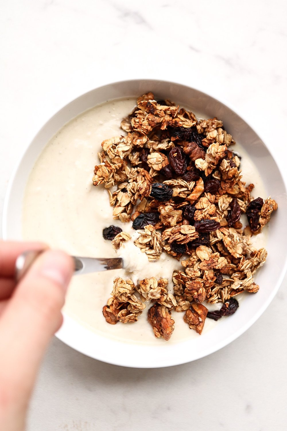Add your granola to your favorite yogurt or smoothie!