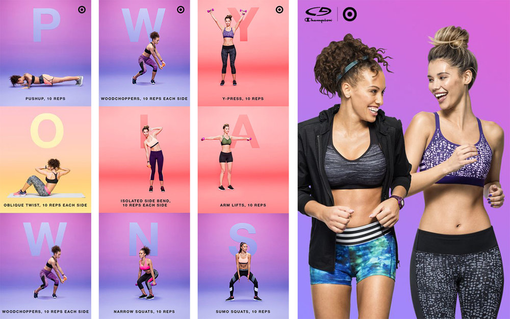 Pinterest Boards = Mini-Workouts   We consulted a fitness expert to help us create mini workout sessions targeting specific areas while spelling out fun and encouraging phrases. WIN for example gives you an arm workout.