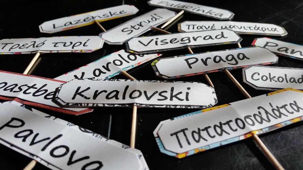 Handmade food labels