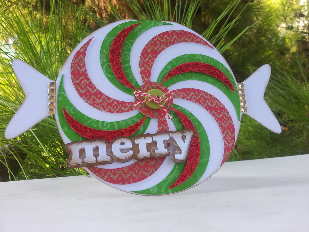 Candy shaped card