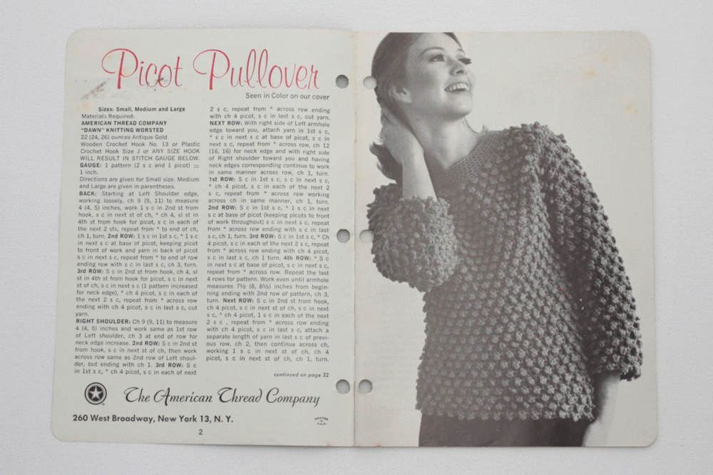 Vintage Pattern Book Sweaters And Things Knitted And Crocheted
