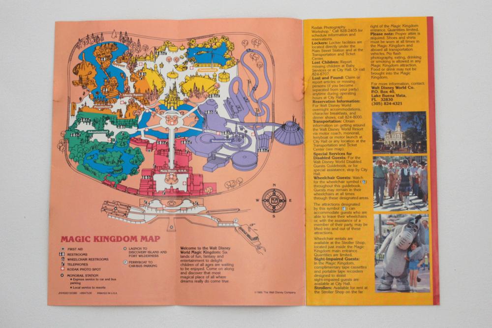 Vintage Magic Kingdom Guide Book 1986 Park Map and Guidebook Walt ...