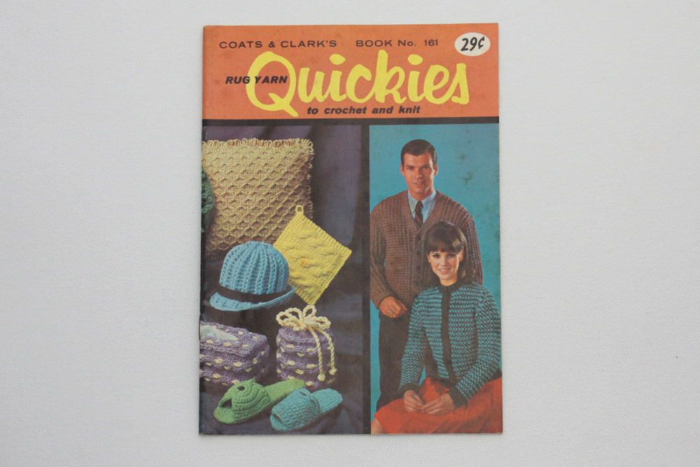 Vintage 60s Knit And Crochet Pattern Booklet Rug Yarn Quickies