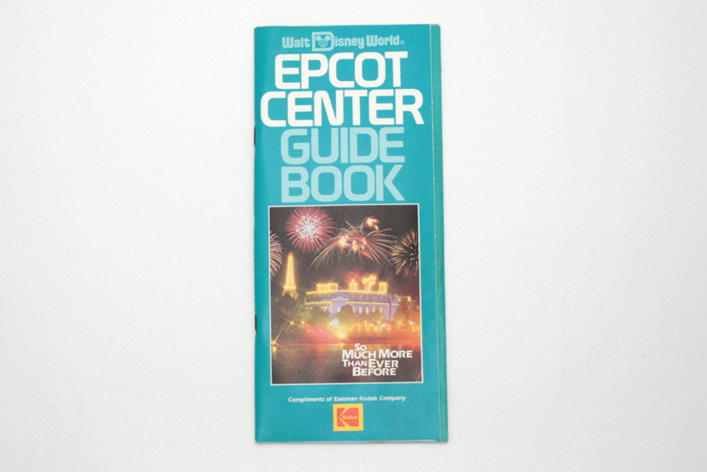Vintage EPCOT Center Guide Book 1988 Park Map and Guidebook ...